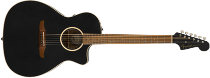 Fender California Newporter Classic Acoustic Guitar - Matte Black