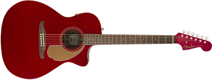 Fender California Newporter Player Acoustic Guitar - Candy Apple Red