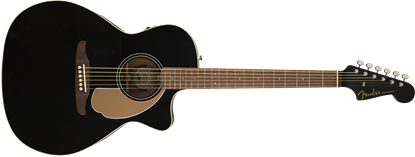Fender California Newporter Player Acoustic Guitar - Jetty Black