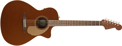 Fender California Newporter Player Acoustic Guitar - Rustic Copper