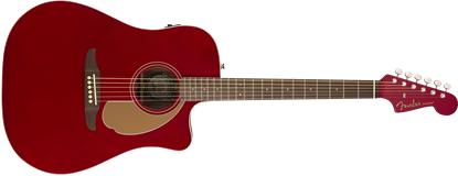 Fender California Redondo Player Acoustic Guitar - Candy Apple Red