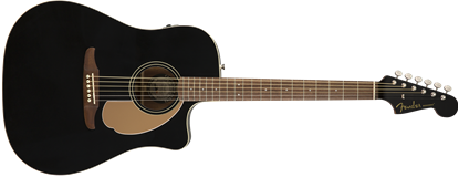 Fender California Redondo Player Acoustic Guitar - Jetty Black
