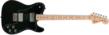 Fender Classic Series 72 Telecaster Deluxe Electric Guitar - Maple Neck - Black