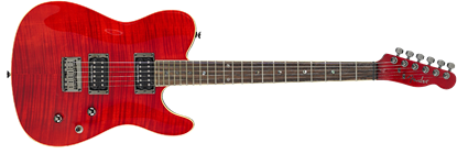 Fender Custom Telecaster FMT HH Electric Guitar - Rosewood Fretboard - Crimson Red Transparent