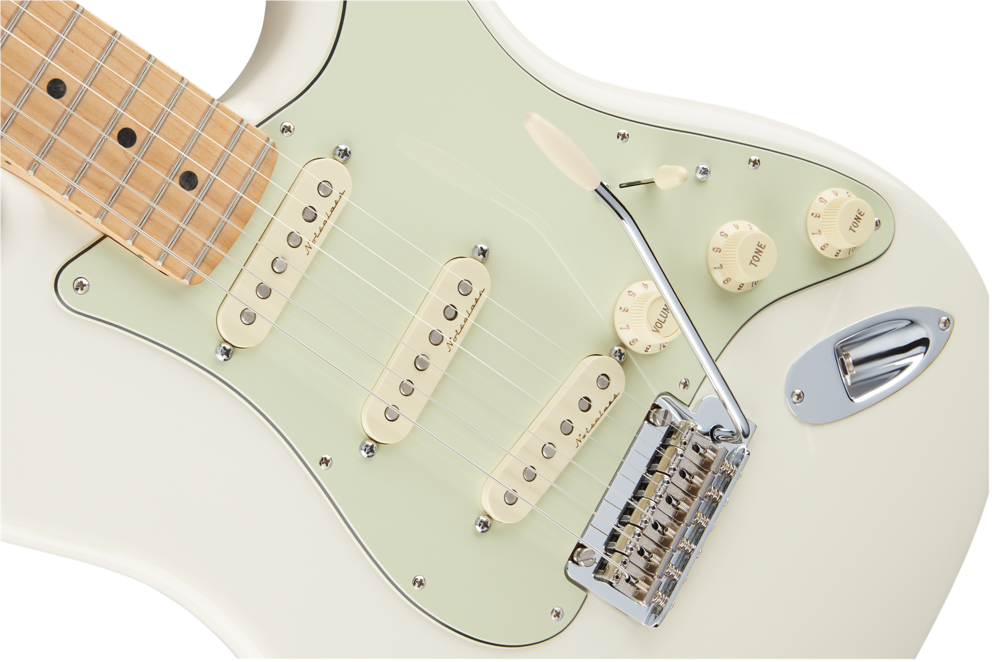 Fender Deluxe Roadhouse Stratocaster Electric Guitar - Maple Neck - Olympic White