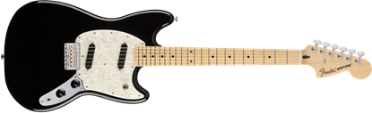 Fender Mustang Electric Guitar - Maple Neck - Black