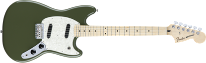 Fender Mustang Electric Guitar - Maple Neck - Olive