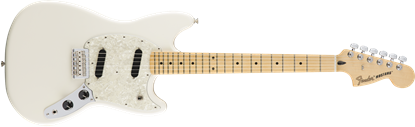 Fender Mustang Electric Guitar - Maple Neck - Olympic White