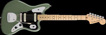 Fender American Professional Jaguar Electric Guitar - Maple Neck - Antique Olive