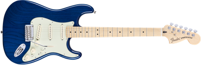 Fender Deluxe Stratocaster Electric Guitar - Maple Neck - Sapphire Blue Transparent