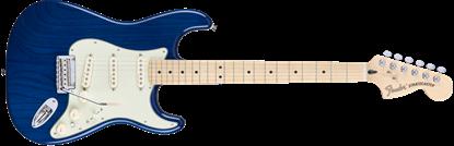 Fender Deluxe Stratocaster Electric Guitar - Maple Neck - Sapphire Blue Transparent