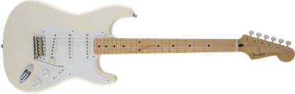 Fender Jimmie Vaughan Signature Tex Mex Stratocaster Electric Guitar - Maple Neck - Olympic White
