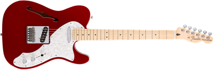 Fender Deluxe Telecaster Thinline Electric Guitar - Maple Neck - Candy Apple Red