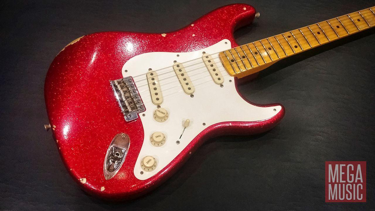 fender custom shop 1958 relic stratocaster electric guitar red sparkle perth mega music online. Black Bedroom Furniture Sets. Home Design Ideas