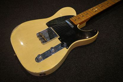 Fender Custom Shop 1951 Nocaster Telecaster Electric Guitar - Relic Time Machine Blonde