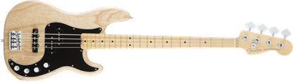 Fender American Elite Precision Bass Guitar - Maple Neck - Natural