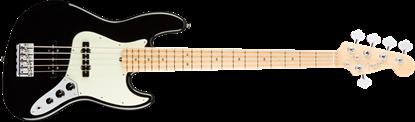 Fender American Professional 5 String Jazz Bass Guitar - Maple Neck - Black