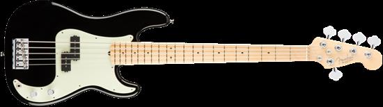 Fender American Professional 5 String Precision Bass Guitar - Maple Neck - Black