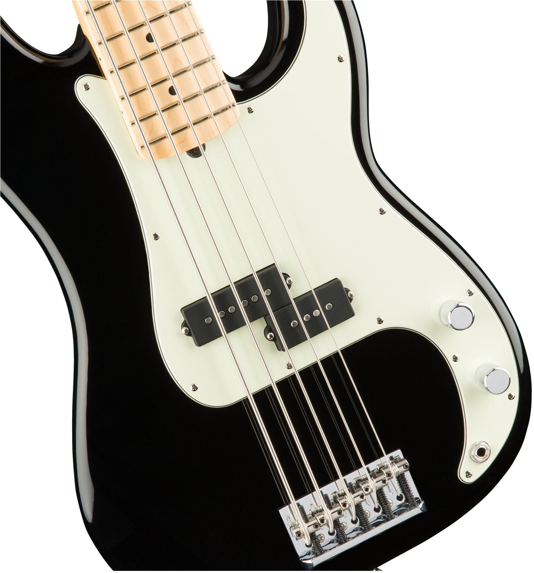 Fender American Professional 5 String Precision Bass Guitar - Maple Neck - Black