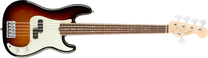 Fender American Professional 5 String Precision Bass Guitar - Rosewood Neck - 3 Colour Sunburst