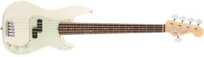 Fender American Professional 5 String Precision Bass Guitar - Rosewood Neck - Olympic White