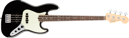 Fender American Professional Jazz Bass Guitar - Rosewood Neck - Black