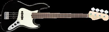 Fender American Professional Jazz Bass Guitar Fretless - Rosewood Neck - Black