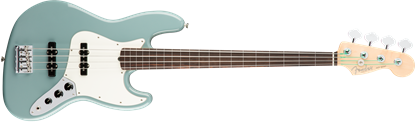 Fender American Professional Jazz Bass Guitar Fretless - Rosewood Neck - Sonic Gray