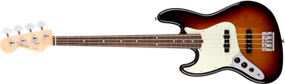 Fender American Professional Jazz Bass Guitar Left-Hand - Rosewood Neck - 3 Colour Sunburst