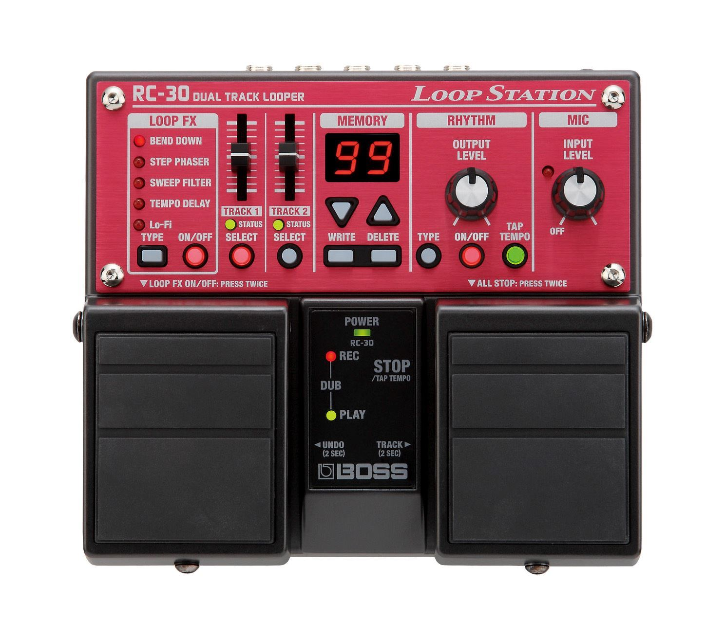 boss rc 30 loop station guitar effects pedal rc30 perth mega music online. Black Bedroom Furniture Sets. Home Design Ideas