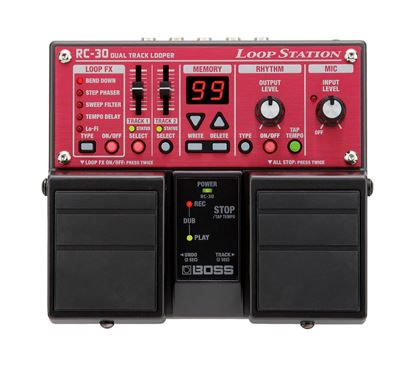 Boss RC-30 Loop Station Guitar Effects Pedal - top view