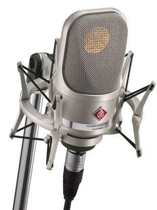 Neumann TLM107 Condenser Microphone Studio Set with EA4 Shock Mount - Nickel