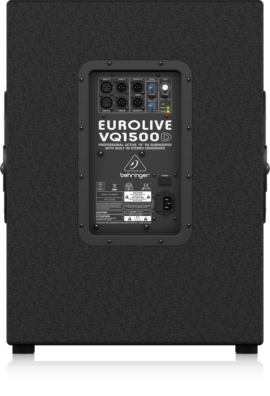Behringer Eurolive VQ1500D 15 inch Powered PA Subwoofer (500 Watt)