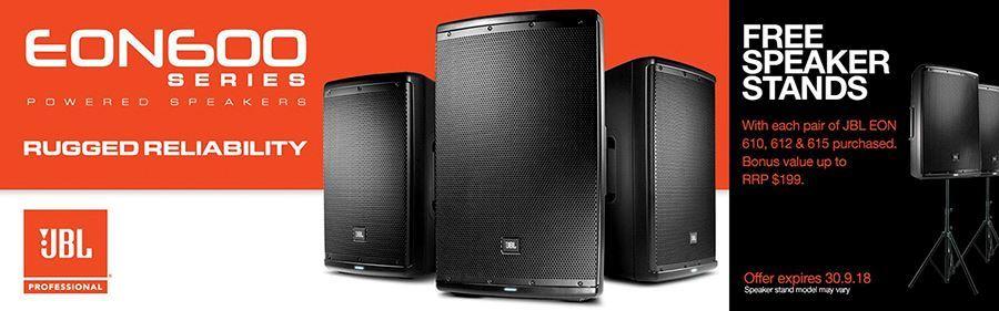FREE Speaker Stands with JBL EON 600 Series Speakers