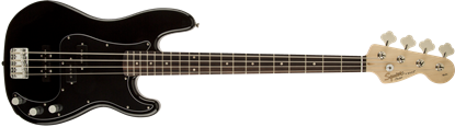 Squier Affinity Precision PJ Bass Guitar - Laurel Fretboard - Black  1