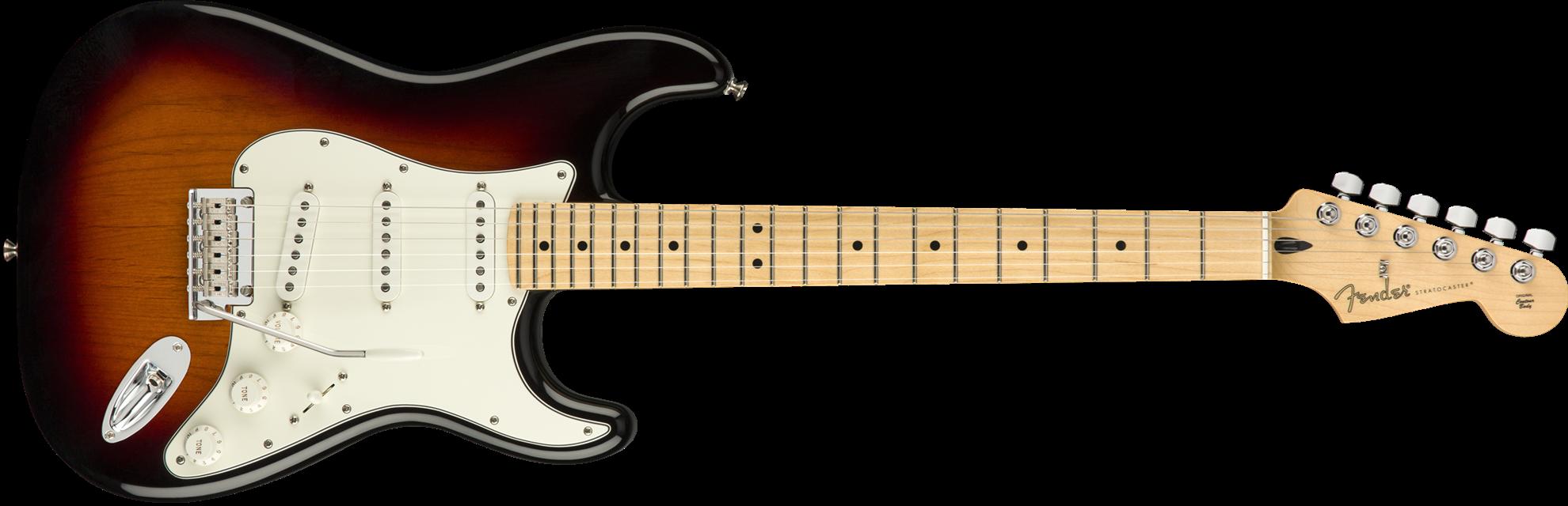 Fender Player Stratocaster Electric Guitar - Maple Neck - 3 Colour Sunburst