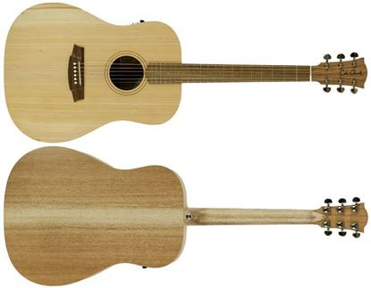 Cole Clark Fat Lady 1 Acoustic Guitar - Bunya Maple (CCFL1EBM)