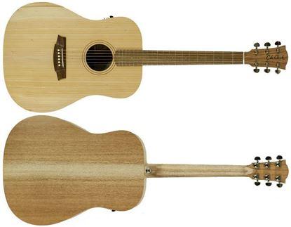 Cole Clark Fat Lady 1 Acoustic Guitar - Bunya Maple (CCFL1EBM)
