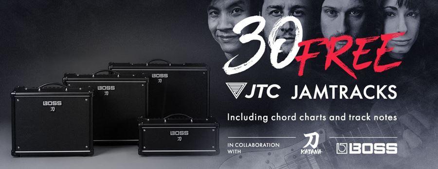 FREE JTC Jamtrack Bundle with BOSS KATANA Amps