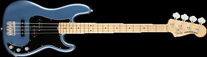 Fender American Performer Precision Bass Electric Guitar - Maple Neck - Satin Lake Placid Blue