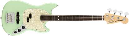 Fender American Performer Mustang Bass Electric Guitar - Rosewood Neck - Satin Surf Green