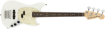 Fender American Performer Mustang Bass Electric Guitar - Rosewood Neck - Arctic White