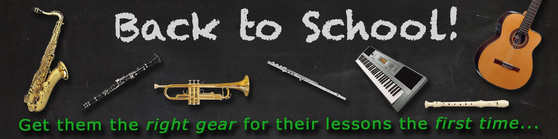 Back to School Musical Instruments