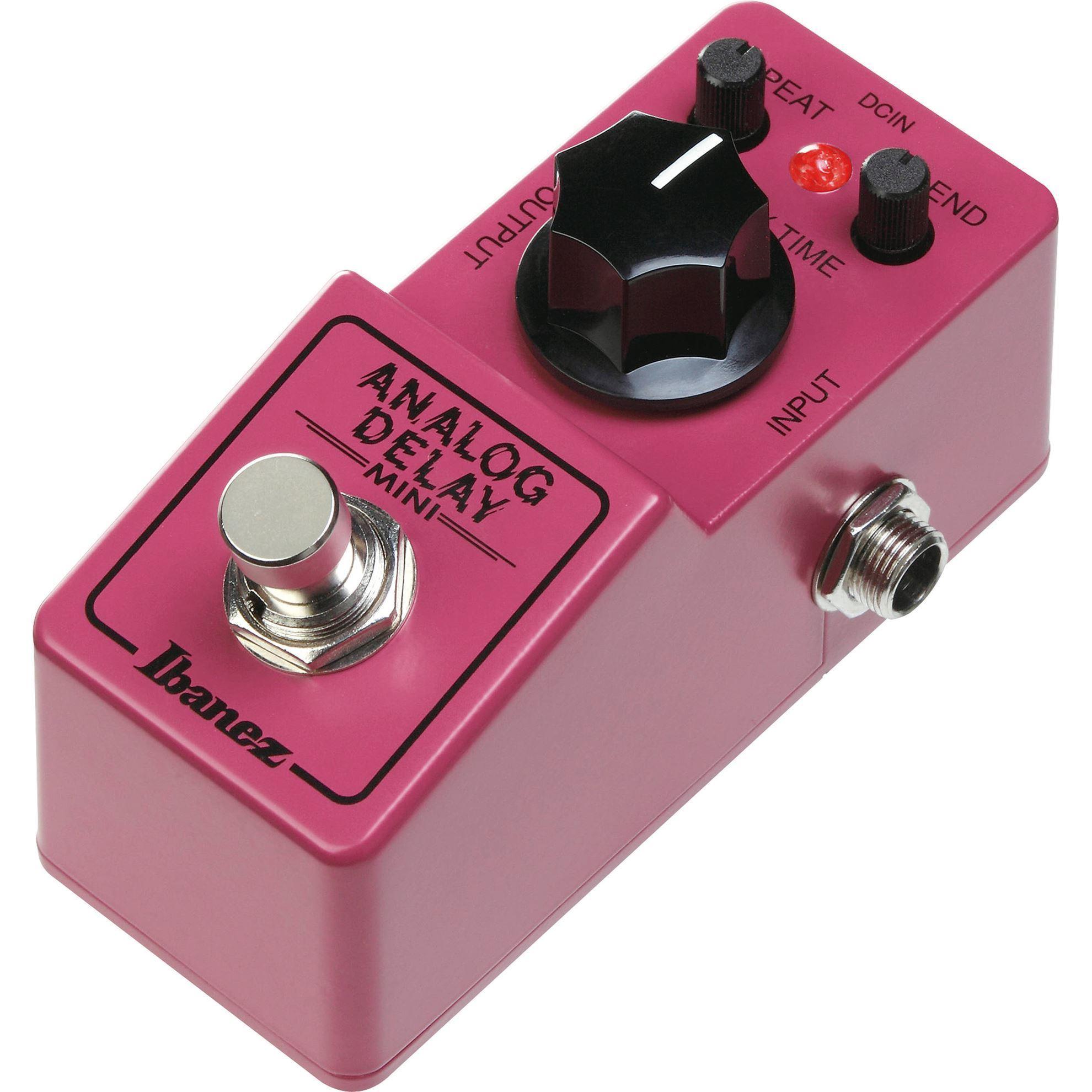 Ibanez ADMINI Analog Delay Mini Guitar Effects Pedal Side View