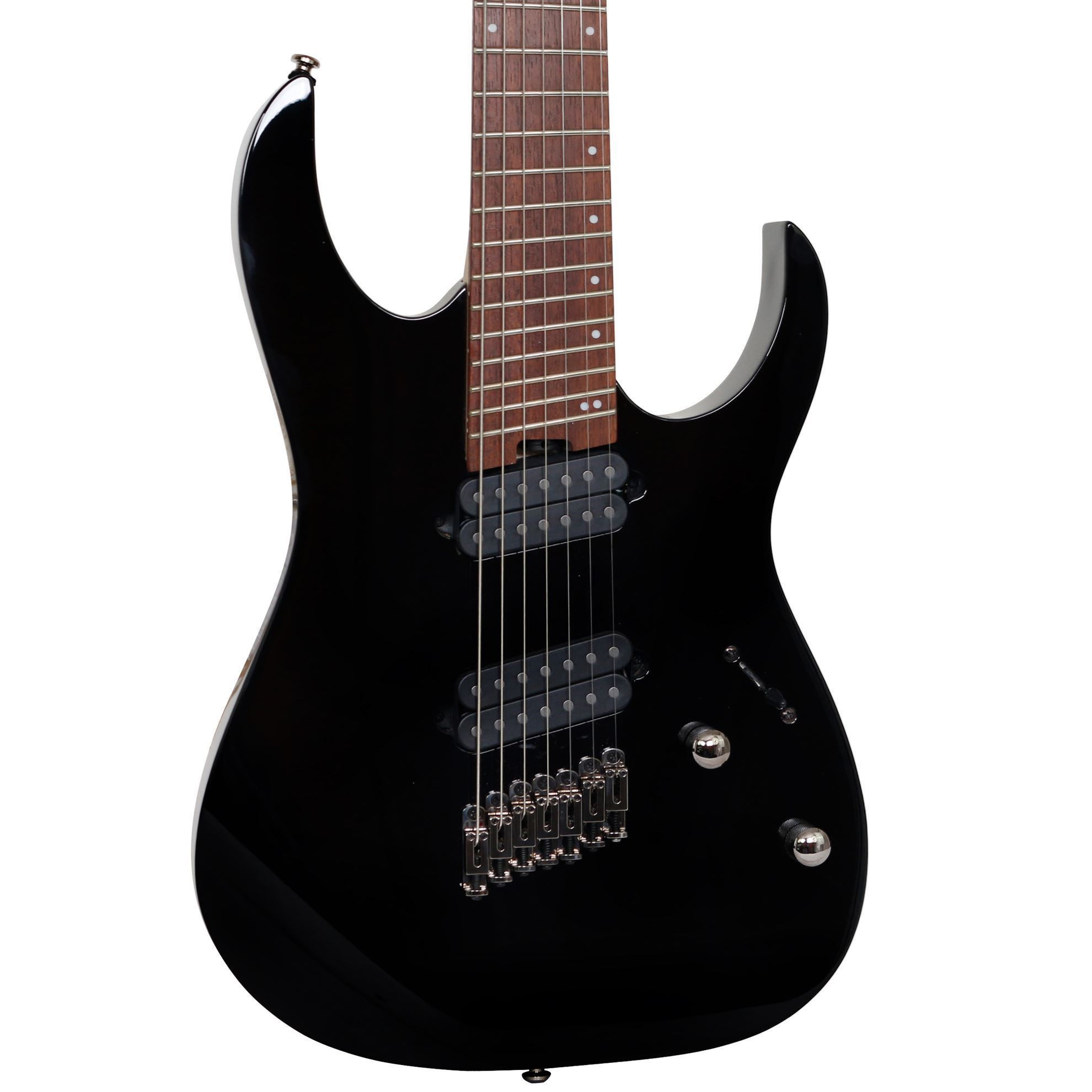 ibanez rgms7 7 string electric guitar multiscale black perth mega music online. Black Bedroom Furniture Sets. Home Design Ideas