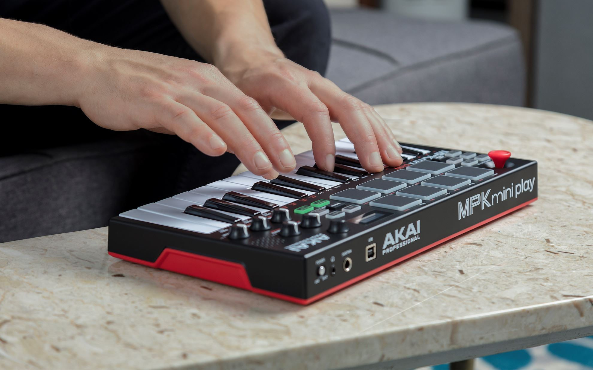 Akai MPK Mini Play Standalone Keyboard and MIDI Controller with Sounds and Speaker