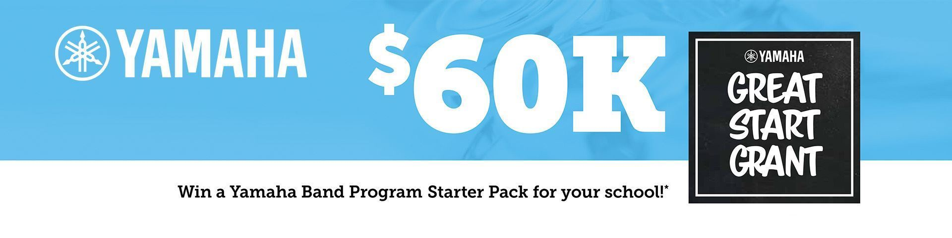 Win a $60k grant for your school with Yamaha's Off To A Great Start Program