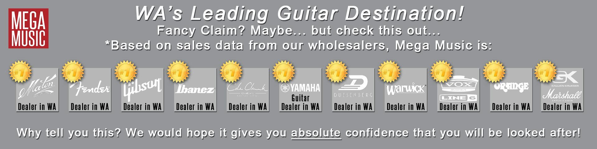 Western Australia's Leading Guitar Destination - Mega Music