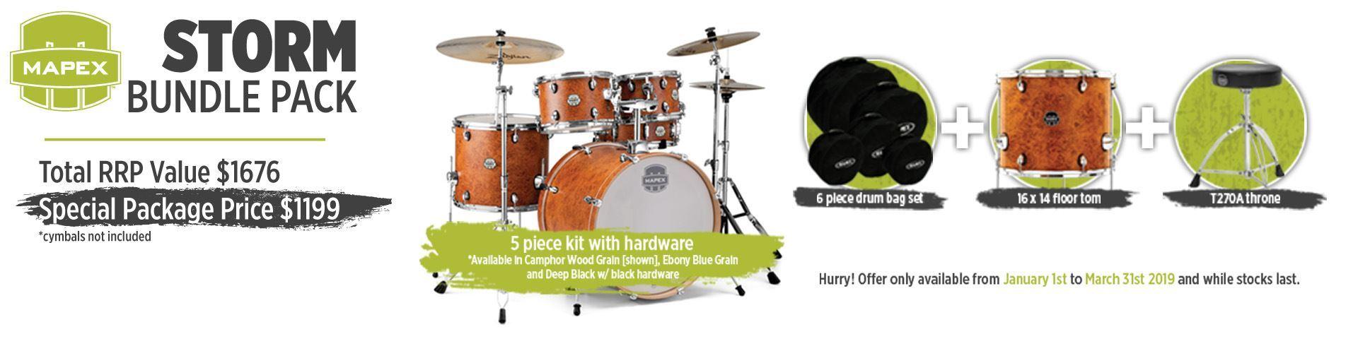Mapex Storm Drum Kit Bundle