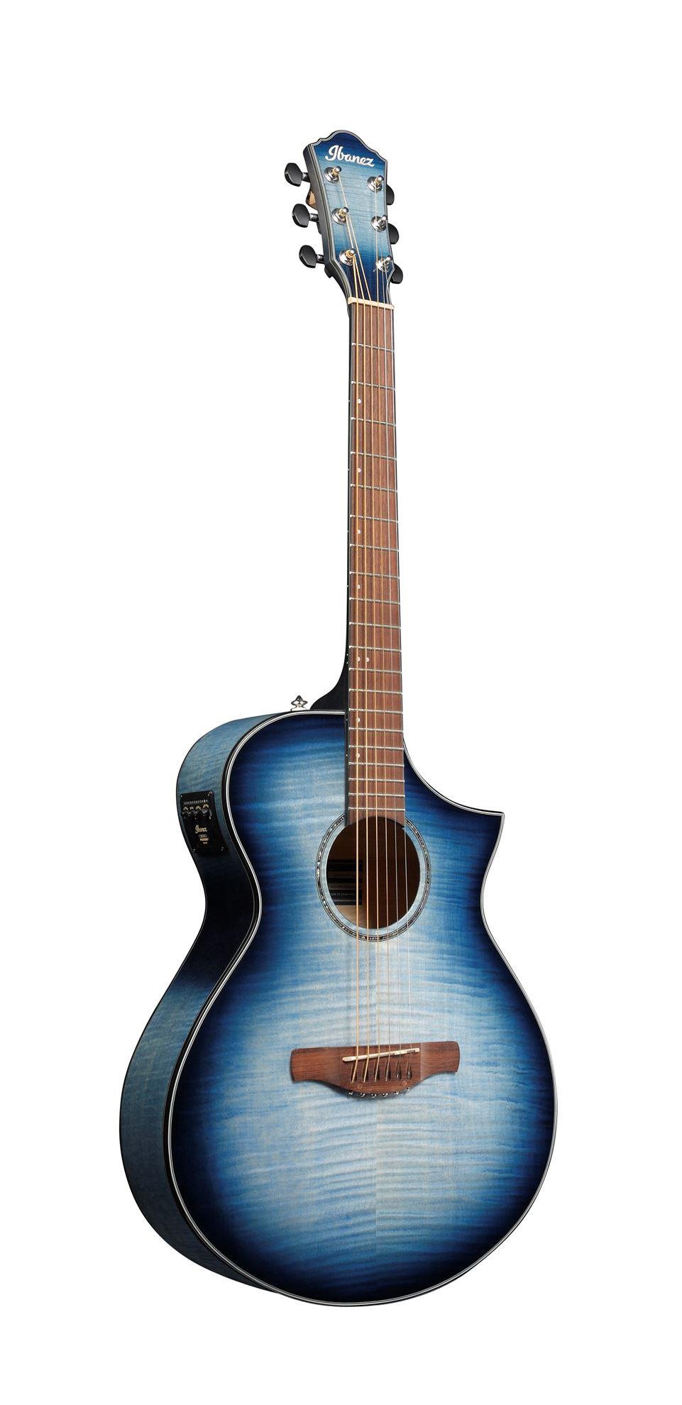 Ibanez AEWC400 Electric Guitar - Transparent Indigo Blue Burst High Gloss